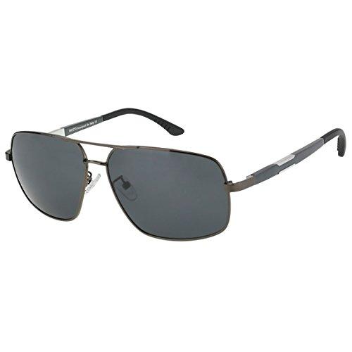 DUCO Premium Sonnenbrille Retro Square Rechteckige Gestell Polarisierte Gläser 100% UV Schutz 3379...