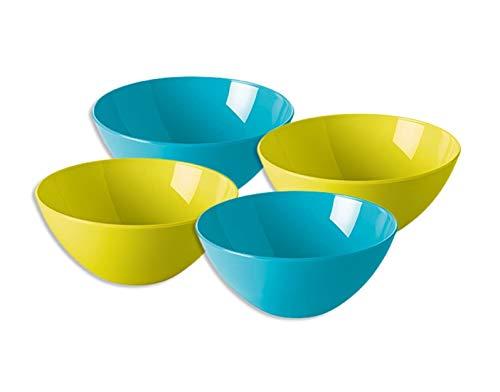 ack Schale servieren Schalen Salat Snacks Obst rund Dip-Set Küche Kunststoff Dessert Müslischalen Speisen, klein, vier Stück ()