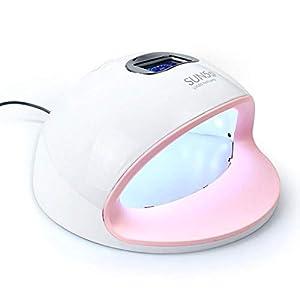 Yxp Lámpara De Secador De Uñas 72W LED con 30 Luces LED con Sensor De Infrarrojos Automático, Secador De Uñas con Los Ajustes del Temporizador 4
