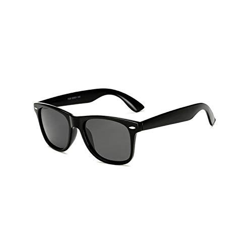 Vikimen Sportbrillen, Angeln Golfbrille,Brand Mens Polarisiert Sunglasses Women Square Mirror Sun Glasses Male Driving Classic Unisex Gafas Gafas UV400 Brightblack Grey
