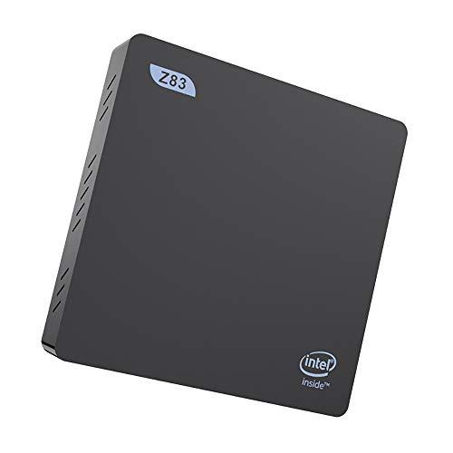 QYEND Mini-PC Z83II Quad-Core-Prozessor HD Graphics Windows-10 Mini-Computer, 4GB DDR3 / 64GB Emmc, Gigabit Ethernet, Dual-Band-WLAN, Bluetooth 4.0 Miniatur-Host-Computer,Schwarz,US