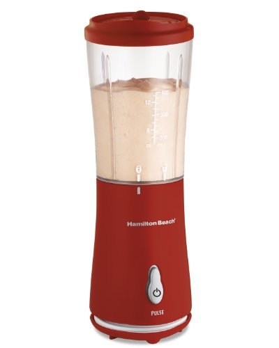 Hamilton Beach Personal Single Serve Blender With Travel Lid, Red (51101r)