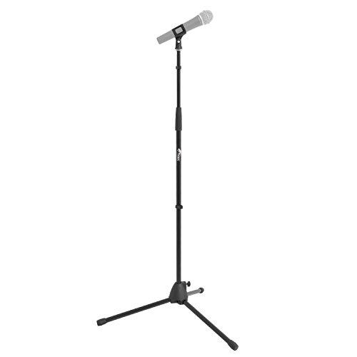 Tiger MCA21-BK - Pie de micrófono con trípode, color negro
