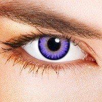 Original Eye Effect Kontaktlinsen Violette Kontaktlinsen - glamourös und sexy! Farbige kontaktlinsen Jahreslinsen Lila ohne Stärke +gratis Kontaktlisnenbehälter