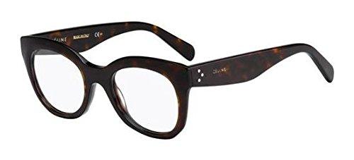 Celine Für Frau 41362 Dark Tortoise Kunststoffgestell Brillen, 49mm