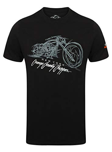 OCC Orange County Choppers T-Shirt Bike Render Black-XXL