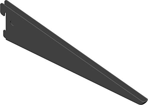 Element System U-Träger Regalträger 2-reihig, 2 Stück, 5 Abmessungen, 3 farben, lange 27 cm für Regalsystem, Wandschiene, schwarz, 18133-00035