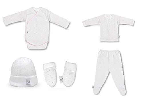Pirulos - Set nacimiento bebé pirulos estrellitas color rosa talla 1 mes