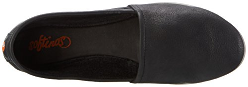 Softinos Olu382sof Smooth, Mocassins femme Schwarz (Black)
