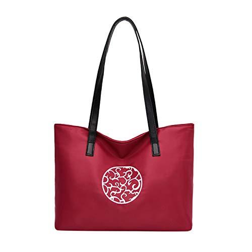 ♥ Loveso♥ Damen Handtasche Handtaschen Elegant Taschen Shopper Oxford Reissverschluss Frauen Handtaschen Groß Handtasche Drucken -