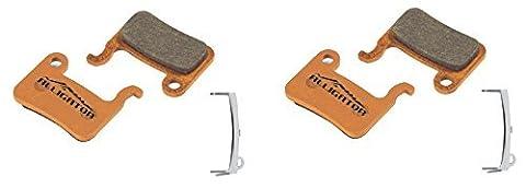 Alligator Organic MTB Bike Disc Brake Pads for Shimano XTR/Deore/Saint/Hone/SLX/Alfine (2 Pair) by Alligator