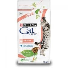 Croccantini per gatti adulti PURINA CAT CHOW Sensitive al Salmone 1,5 Kg
