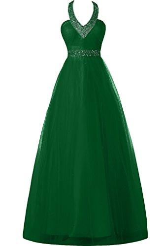 Sunvary una linea collo halter lunghezza totale fiesta applicate Homecoming abito da sera Verde scuro