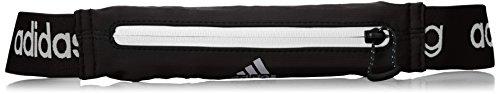 adidas Run Belt - Cinturón unisex, color negro / gris, talla única