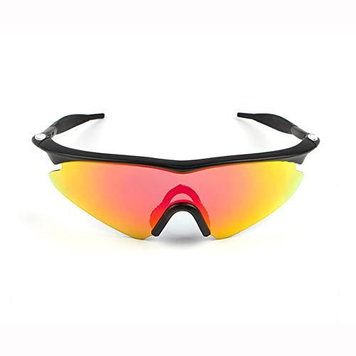 YSAGNZQ Polarisierte Brille-Sport-Sonnenbrille-UV400 Explosionssichere Sung-Brille mit 5 auswechselbaren Gläsern für Männer Frauen Angeln Golf Radfahren Brille