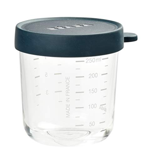 BÉABA Portion Conservation Verre, 250 ml, Bleu