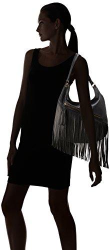 Volcom, Borsa a spalla Donna Fringe Benefit Hobo, Nero (Black), 50 x 40 x 10 cm, 5 litri Nero (Black)