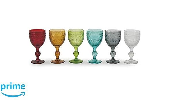 6Einheiten Mehrfarbig Villa d Este Home Tivoli Cromia Set 6Gläser multiforma