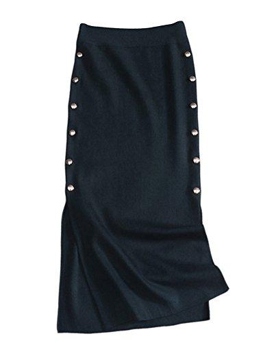 saideng-mujeres-falda-casual-alta-cintura-faldas-plisadas-lapiz-rajas-laterales-falda-verde-del-ejer