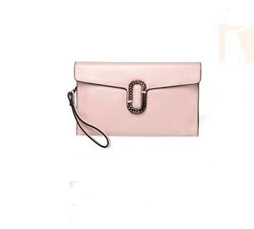 La signora frizione della busta, sacchetto di frizione ad alta capacità, spalla personalità della moda, Messenger Bag Pink
