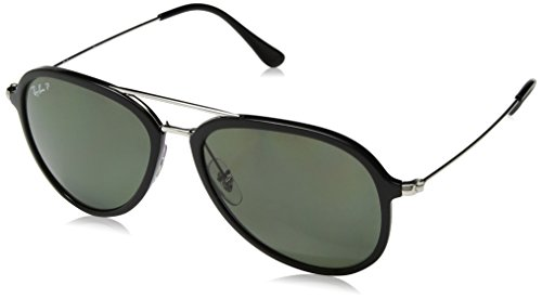 Ray-Ban Polarized Aviator Unisex Sunglasses - (0RB4298601/9A57|56|Polar Green Color)