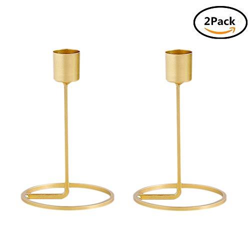 (Kerzenhalter, Metall Gold Kerzenhalter Für Kegel Kerzen Eisen Dünne Metall  Moderne Tisch Dekorative Herzstück