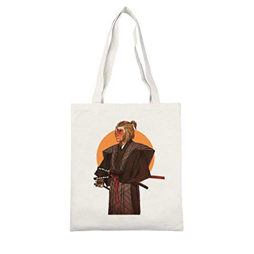 Yy.f Guerriero Scimmia Ambientalmente Amichevole Borsa Di Tela Nero Spalla Portatile Shopping Bag Harajuku Via Battere Sen Cerniera Borsa Femminile White
