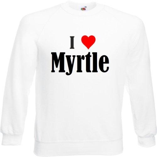 Reifen-Markt Sweatshirt I Love Myrtle Größe L Farbe Weiss Druck Schwarz