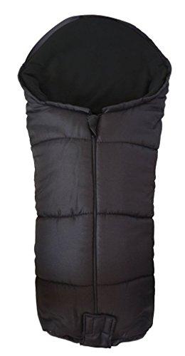 Deluxe/Chancelière cosy orteils Compatible avec Maclaren Techno Poussette Noir