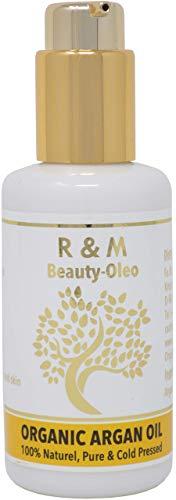 R&M Arganöl - Premium Argan Öl Für Gesicht, Körper, Haar Und Vieles Mehr - 100{42a2f999215fcb850e85780891f7623386ff775c6249da512e3080509d116f30} Bio & Fairtrade Aus Marokko - Für Eine Schönere Haut, Ein Reines Gesicht Und Glänzendes Haar - 100ml Pump-Flasche
