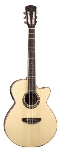 Luna Guitars - Guitarra acústica eléctrica (cuerdas de nailon)