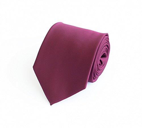 Fabio Farini - Cravate rose uni 8cm