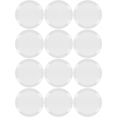 Promobo - Lot Ensemble 12 Assiettes Ronde Luminarc Présentation Gastronomique Transparente 25cm