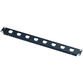 PC All Metal Parts 1U 19 10 XLR D Folded Rack Panel