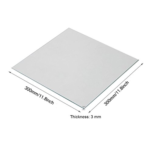Wisamic Plaque chauffante de borosilicate transparent pour imprimantes 3D MK2/MK2A, Ultimaker 2+, RepRap, Mendel