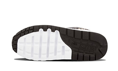 Nike Air Max 1 Qs (Gs), Chaussures de Running Entrainement Garçon Jaune / Marron / Blanc / Noir (Tawny / Black-White)