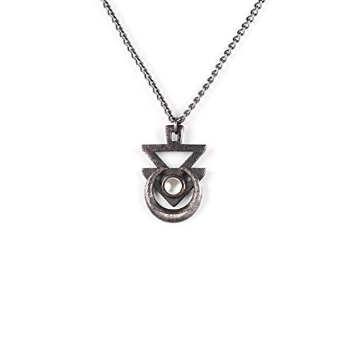 Il sigillo di Euphoria Rogue e il lupo-Collana in acciaio ardesia-3d stampato gotico gioielli