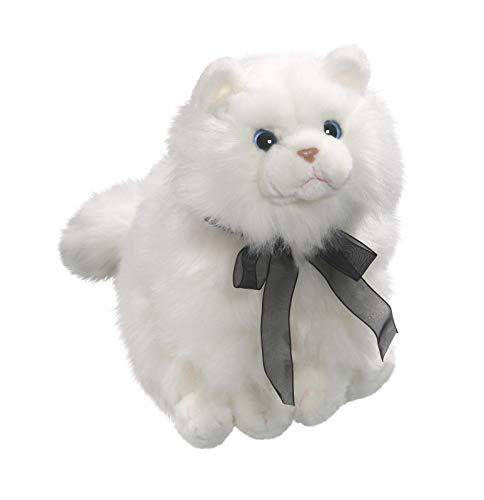 Peluche - Gato blanco con lazo negro (felpa, 30cm) [Juguete] 3357