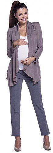 Zeta Ville - Maternité cardigan grossesse maille fine sans boutons - femme 953c Cappuccino