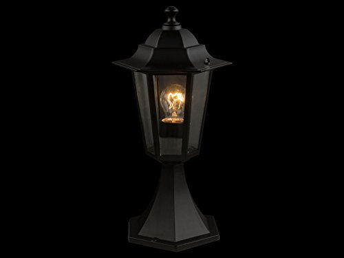 Led piantana da terra lanterna in nero illuminazione da giardino