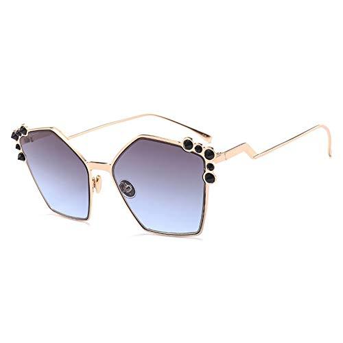 Thirteen Unregelmäßig Verzierte Sonnenbrille, Geeignet Für Dekoration, Sonnenschutz, Reisen Im Freien, Einkaufen, Reisen, Fahren , UV400 (Color : G)