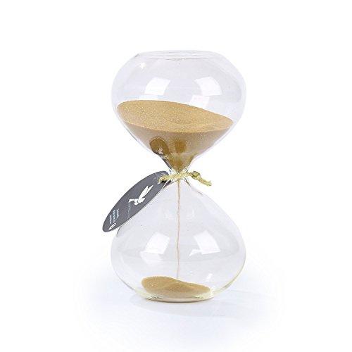biloba 6 inch puff sand timer/ab 60 minuten - goldene farbe sand - inspirierte glas/home, boards, büro - ausstattung