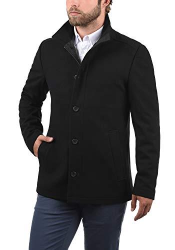 JACK & JONES Premium Jacinto Herren Winter Mantel Wollmantel Lange Winterjacke mit Stehkragen, Größe:L, Farbe:Black - 2