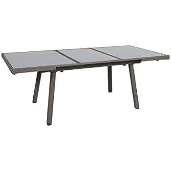 greemotion Table de jardin extensible Malmö - Table résine tressée ...
