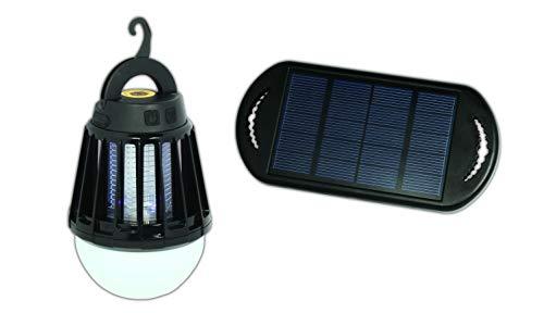 POWERplus Mosquito Solar USB aufladbares LED Camping Leucht mit eingebaute Ultravioletter LED Insektenlampe Mückenbekämpfung Mückenfalle Mücken Beseitiger Insektenfalle UV