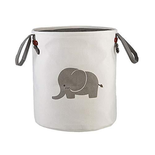 age Körbe Runde Startseite Organizer Baumwolle Tasche für Baby Nursery, Kinder Spielzeug Organizer, Wäsche, Baby-Kleidung Elefant ()