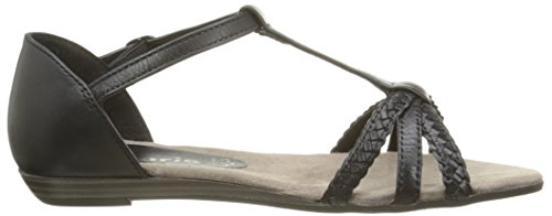 Tamaris - 28137, Scarpe col tacco con cinturino a T Donna Nero (Nero (Black 001))