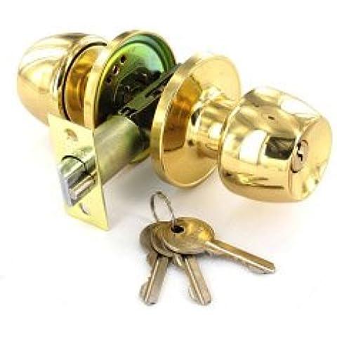 Latón entrada Lock Set con 3 llaves de 60mm / 70mm