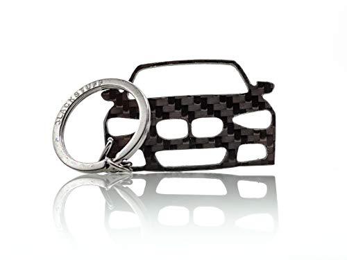 BlackStuff Carbon Karbonfaser Schlüsselanhänger Kompatibel Mit BMW M1 F21 BS-695