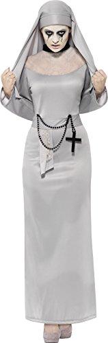 Smiffy's 43728L - Gothic Nonne Kostüm mit Dress und Kopfstück (Nonne Kostüm Amazon)